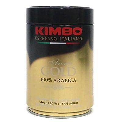 Kimbo Espresso Italiano Aroma Gold 100% Arabica Ground Coffee, 8.8 oz by Caffe Kimbo