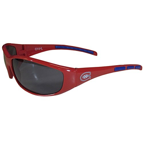 NHL Montreal Canadiens Wrap Sunglasses, Red, Adult