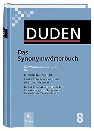 Das Synonymwörterbuch Ein Wörterbuch Sinnverwandter Wörter