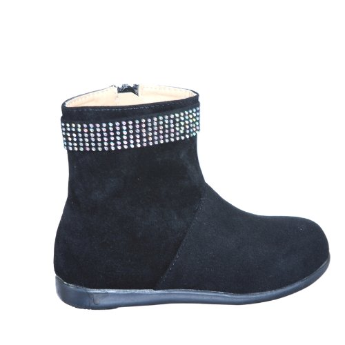 643b4044b8a shoewhatever Comfortable Winter Theme Boots with Ring of Rhinestones for  Girls (1