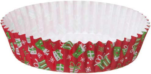 Welcome Home Brands Ruffled Baking Cups, Presents, Set of 30 (Christmas Mini Tarts For)