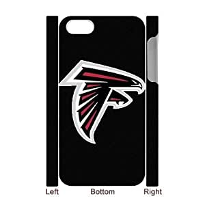 Qxhu Falcons patterns Cell Phone Cover Case for Iphone4,4S 3D case