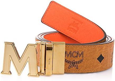 MCM Damen Gürtel wendbar Cognac Orange: : Bekleidung
