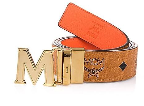 erstklassige Qualität online zu verkaufen stabile Qualität MCM Damen Gürtel wendbar Cognac Orange: Amazon.de: Bekleidung