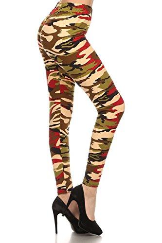 N350-OS Orange Army Camouflage Printed Stylish Leggings