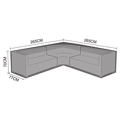 Nova PVC Backed Polyester Waterproof Fitted Outdoor Rattan Garden Furniture Cover Rounded Corner Sofa Set