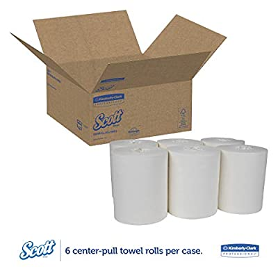 Scott 01061 Center-Pull Towels, Absorbency Pockets, 1Ply, 8x15, 250 Sheets per Roll (Case of 6 Rolls): Industrial & Scientific