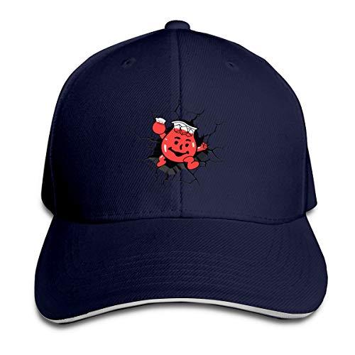 Unisex Baseball Cap Washed Dyed Cotton Kool-Aid Man Adjustable Dad Hat Navy -