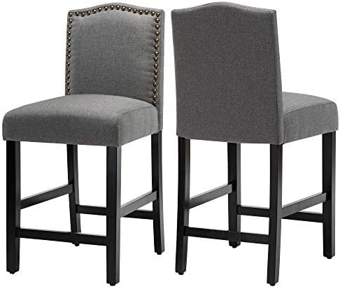 24 inch Fabric Counter Backed Bar Stools