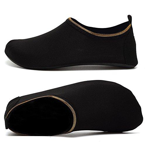 Et d'eau Nus Aquatique Soidblack Hommes Chaussons Sport AGOLOD Rapide de Plage Femmes Piscine Poids Léger Chaussures Pieds Chaussures Séchage de qtzOfzwx