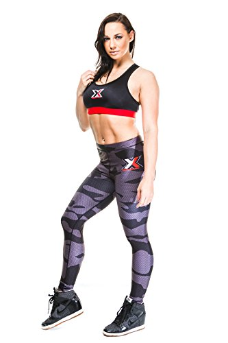 met- X–camuflaje Capri Tights mujer entrenamiento deportivo pantalones de correr parte inferior pantalones de yoga