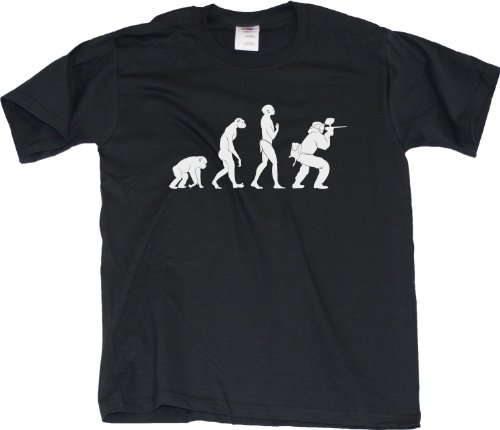 EVOLUTION OF THE PAINTBALLER Funny Paintball Player T-shirt Youth Unisex T-shirt / evolution of paintball player