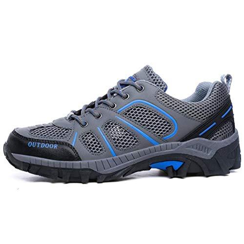 Zapatillas Casuales Unisex Malla para Verano Gris Adultos Zapatos Parejas Transpirable Primavera 00F7xwT