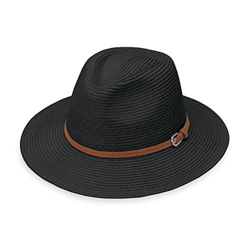 wallaroo Women's Naples Sun Hat - Classy Paper Braid Fedora - UPF50+, (Designer Dress Hat)