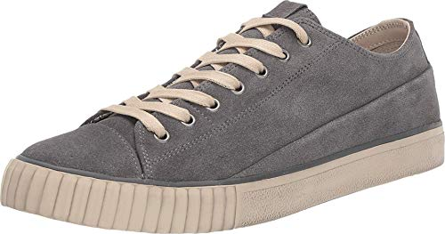 JOHN VARVATOS Vulcanized Washed Suede Low Top Oxide 8.5