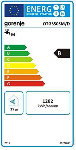 Slim Display mit Temperaturanzeige Gorenje Warmwasserspeicher 80 L emaillierter Innenbeh/älter druckfest OTGS 80 SM//D EEK B 2 kW ECO-Smart-Fkt wei/ß 1 St/ück