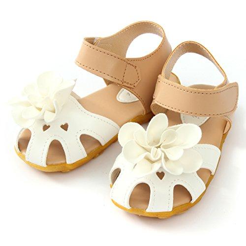 Enfants Sandales Marcheur Fleur Souples Minetom Chaussures Blanc À Pré Semelles Filles Bébé Bambin dérapant Été Anti AnF6EqaH6