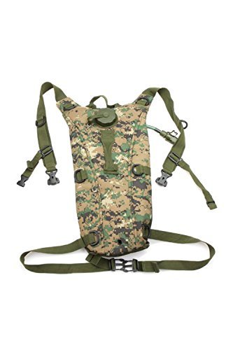 TOOGOO(R)2.5L TPU Hydratation System Blase Wasser-Beutel Tasche fuer Rucksack Wandern Klettern-Digitale Wueste Camo