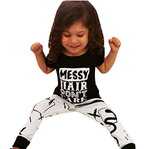 [EKIMI Toddler Kids Baby Girls T-shirt Tops+Long Pants Leggings Outfit Clothes Set (6/7T)] (50 Outfits For Kids)