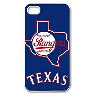 Brand New Texas Rangers Logo Printed Hard Case Cover for iPhone 4/4S - 1 Pack