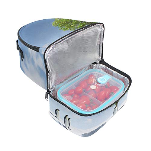 cultivo doble de un bolsa ajustable correa picnic Cooler árbol almuerzo de Antarctica Bandolera para q06dnxwW50