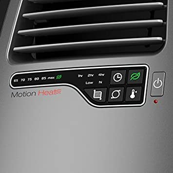 Lasko Ceramic Room Heater with 3D Motion Heat Technology, Electronic Touch-Control Operation, Adjustable Thermostat with 2 Comfort Settings, Built-In Safety Features, Energy Efficient Timer, Remote Control Included