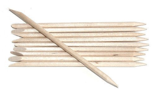 - Perfect Stix Cuticle 2.75 Birchwood Cuticle Stick with one End bevel and one End point, 2-3/4