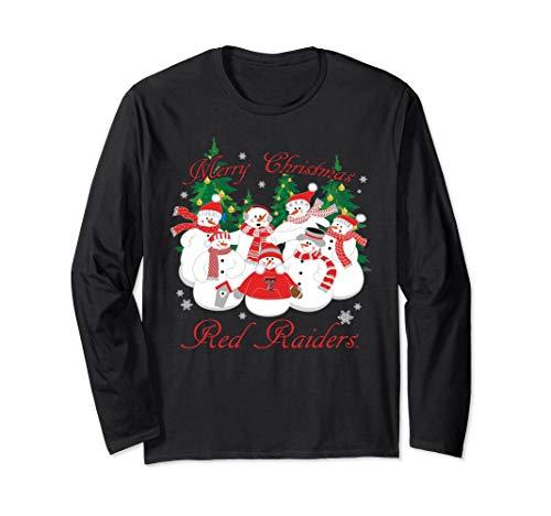 Texas Tech Red Raiders Christmas Snowman Long Sleeve T-Shirt