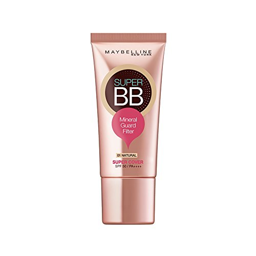 Maybelline Super BB Super Cover Cream Spf50 PA++++ 30ml (Hydro Mineral Natural Finish Makeup)