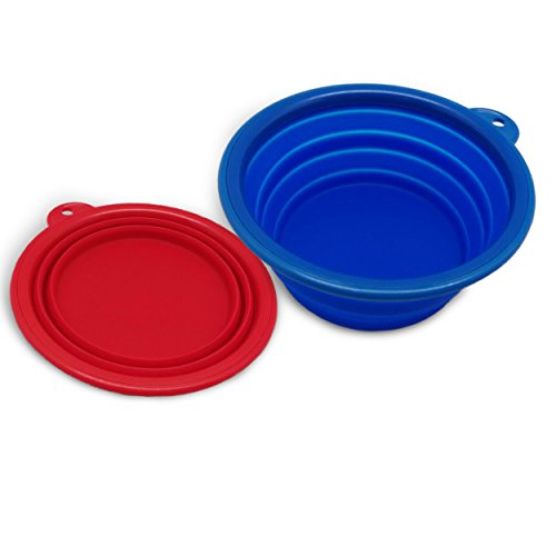 AZCAMP Collapsible Silicone Camping Bowl, Food-grade and BPA-free, Pack of ()