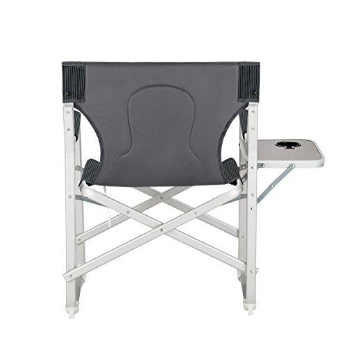 KingCamp Aluminum Portable Heavy Duty Folding Camping Director Chair