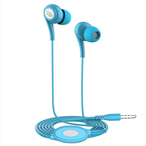 Price comparison product image AutumnFall Universal 3.5mm In-Ear Stereo Earbuds Earphone with Mic for Cell Phone (Blue)