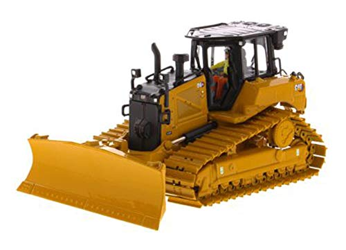 Diecast Masters CAT Caterpillar D6 XE LGP Track Type Tractor Dozer with VPAT Blade and Operator High Line Series 1/50 Diecast Model 85554