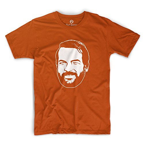 Bud Spencer Herren Buddy T-Shirt (L, Orange)