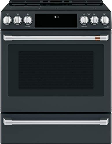 Ge Cafe CHS900P3MD1 Matte Collection Series 30 Inch Induction Slide-in Electric Range in Matte Black