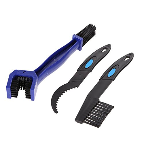 Bike & Motorcycle Chain Cleaning Brush Tool Multi purpose for All Bikes Gears Maintenance Quick Washing Brush Set (3 Pieces)