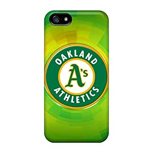 Scratch Resistant Cell-phone Hard Covers For Iphone 5/5s With Custom Beautiful Oakland Athletics Skin KellyLast