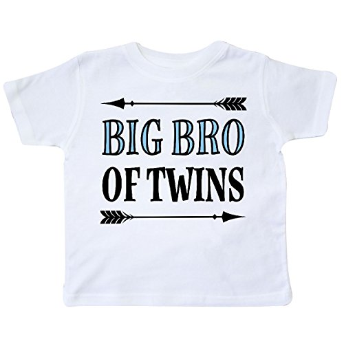 White Bro T-shirt (inktastic - Big Bro of Twins Brother Gift Toddler T-Shirt 4T White 2ebf5)
