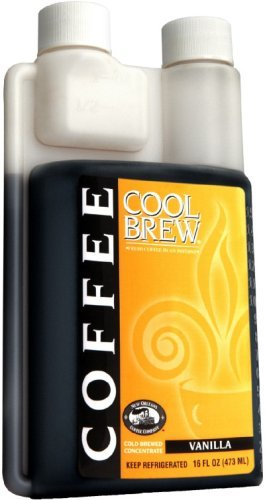 Cool Brew® Fresh Coffee Concentrate - Vanilla 500ml - Make Iced Coffee or Hot Coffee - Enough for 16 beverages