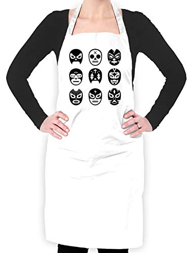 Dressdown Lucha Masks - Unisex Fit Adult Apron - White - One ()