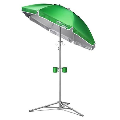 Garden and Outdoor Wondershade Ultimate Portable Sun Shade Umbrella, Lightweight Adjustable Instant Sun Protection – Green patio umbrellas