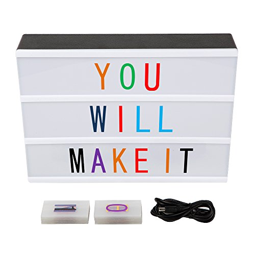 LITENERGY A4 Size Cinematic Light Up Box with Letters and LED Light (Colour Version)