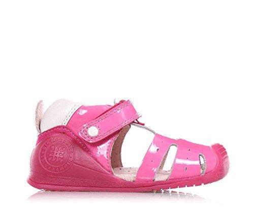 Biomecanics - Sapatos Fúcsia Feito De Couro E Couro Natural, Menina, Criança, Bebê