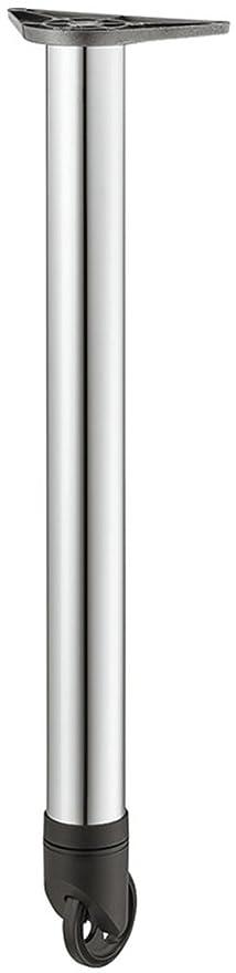Pie para mueble con ruedas cromo pulido pata de mesa de altura ajustable + 25 mm