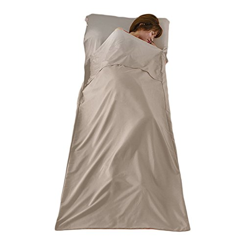 Inside Liner (Lightweight Warm Roomy Cotton Sleeping Bag Liner Sleep Sack Camping Travel Outdoor Picnic Travel Sheet Sleep Sack Comfortable, for Travel, Youth Hostels, Picnic, Planes, Trains 82