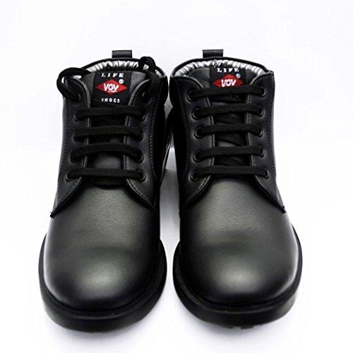 Vov Mens Black Leather Shoes 9 Buy Online At Low Prices In India