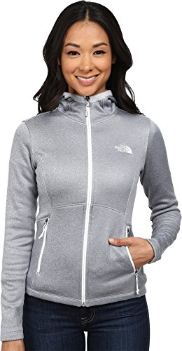 The North Face Women's Agave Hoodie High Rise Grey Heather/TNF White Sweatshirt MD by The North Face
