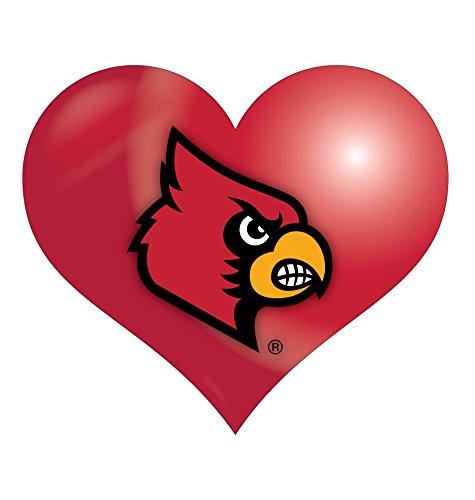 Louisville Cardinals Heart Magnet Single