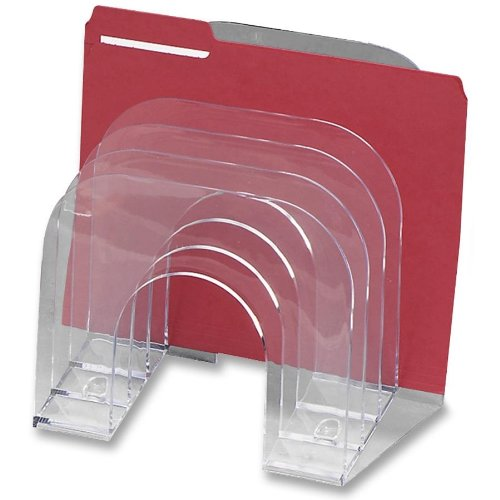 Rubbermaid Optimizers Sorter, Jumbo Incline Sorter 6-Compartments 9-3/8w x 10-1/2d x 7-3/8h, 1 Unit, Clear (RUB96600ROS) Newell Rubbermaid Office
