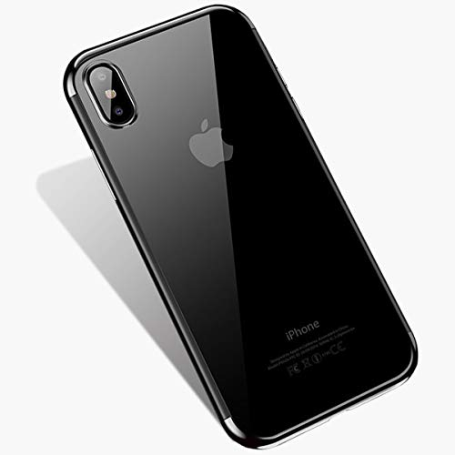 YEPON Phone Case Compatible with iPhone Xs Max Case Clear, Ultra-Thin Soft TPU Shockproof Protective Case Cover Compatible with iPhone Xs Max 6.5 Inch 2018 (Silver)